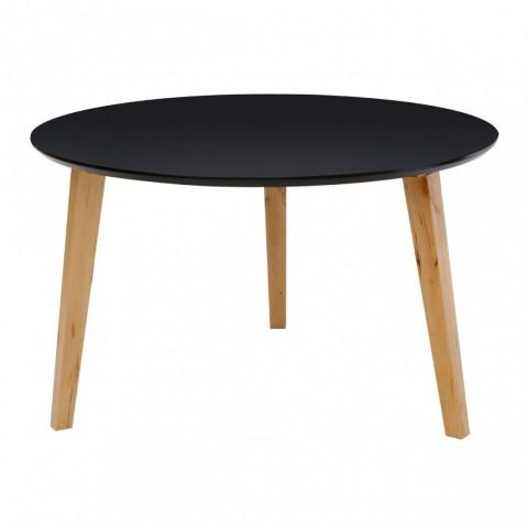 Kensington - Fiesta Round Black Dohányzóasztal