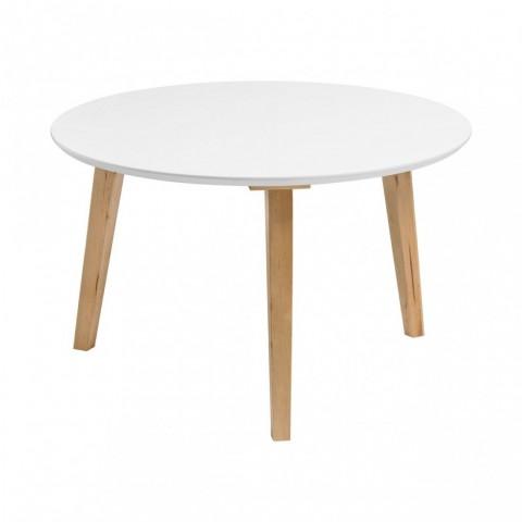 Kensington - Fiesta Round White Dohányzóasztal