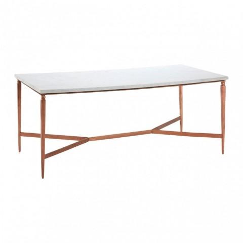 Kensington - Nirav White Marble Dohányzóasztal