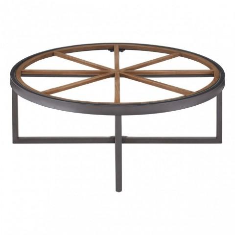 Kensington - Trinity Round Glass Top Dohányzóasztal