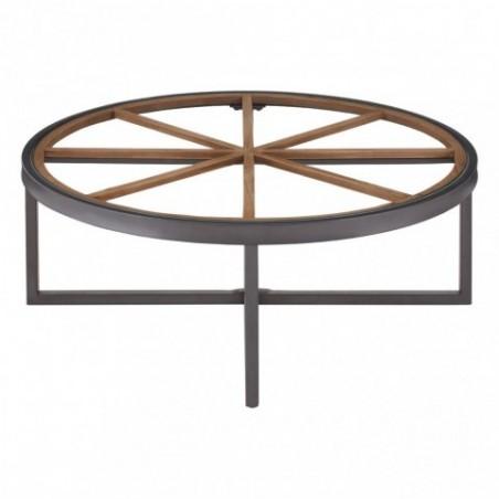 Trinity Round Glass Top Konferenční stolek