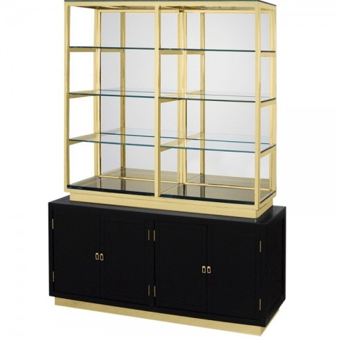Artelore - Rubens 180 Black Golden policový regál
