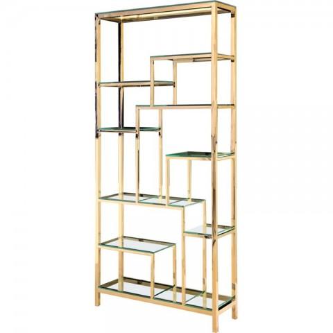 Artelore - Vesta Golden policový regál
