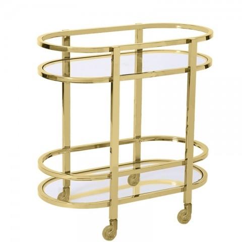 Artelore - Memphis Golden barový vozík