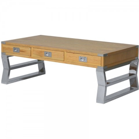 Artelore - Anish Oak Stainless konferenční stolek