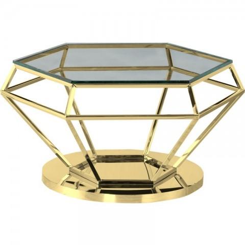 Artelore - Emmanuelle Gold Finish konferenční stolek