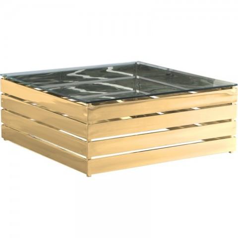 Artelore - Gehry Gold Finish konferenční stolek
