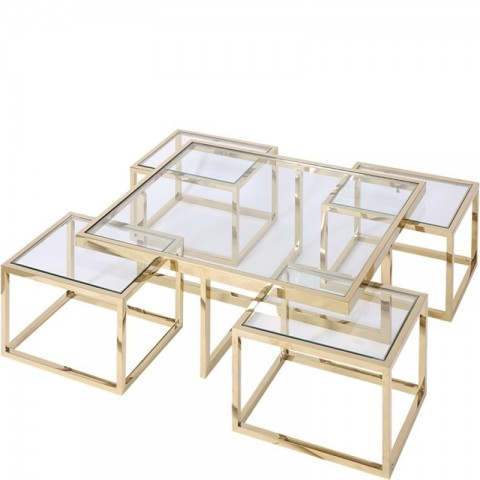 Artelore - Gold Cruze konferenční stolek
