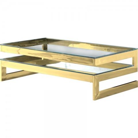 Artelore - Kassia Gold Finish konferenční stolek