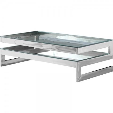 Artelore - Kassia Nickel Finish konferenční stolek