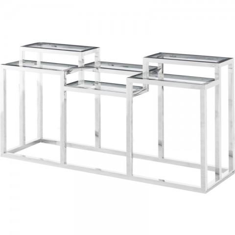 Artelore - Alvar Ii Nickel konzolový stůl