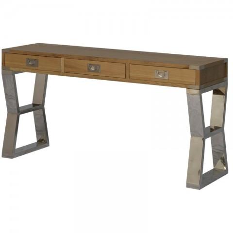 Artelore - Anish Oak Stainless konzolový stůl
