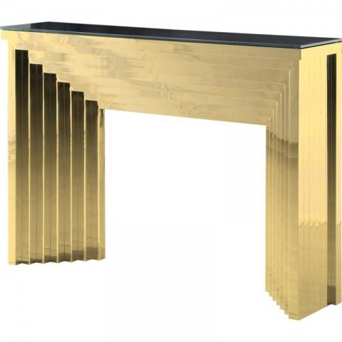 Artelore - Danae Gold Finish konzolový stůl