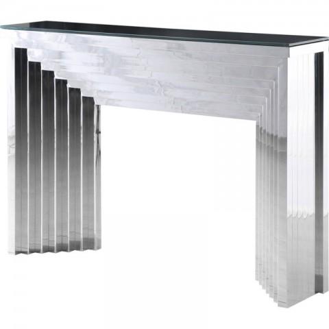 Artelore - Danae Nickel Finish konzolový stůl