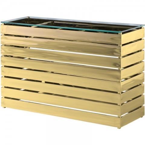 Artelore - Gehry Gold Finish konzolový stůl