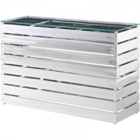 Artelore - Gehry Nickel Finish konzolový stůl