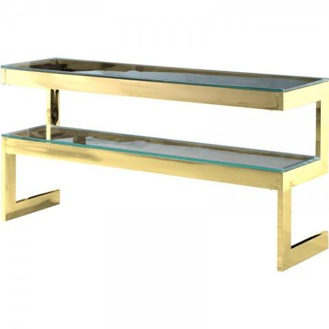 Artelore - Kassia Gold Finish konzolový stůl