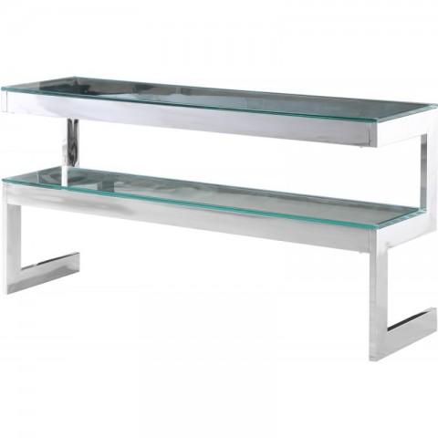 Artelore - Kassia Nickel Finish konzolový stůl