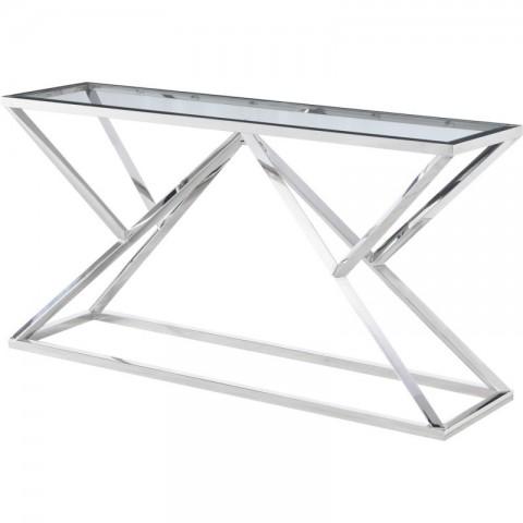 Artelore - Norma Nickel konzolový stůl