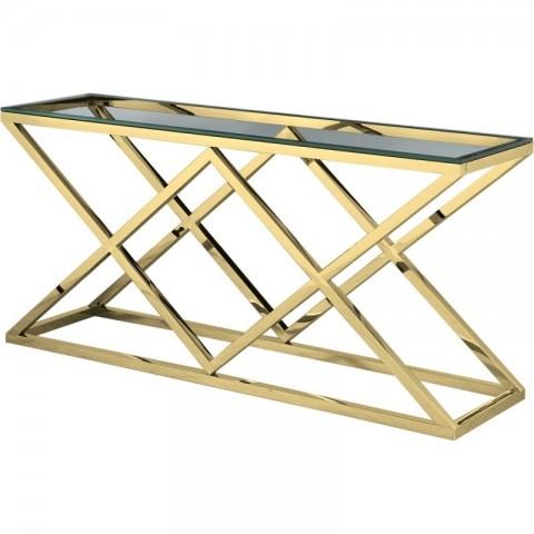 Artelore - Vanir Gold Finish konzolový stůl
