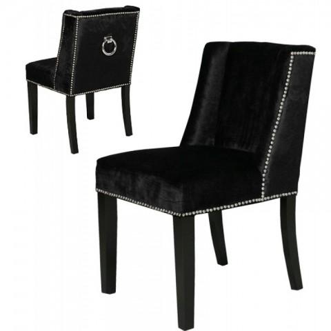 Artelore - Black Velvet Brens čalouněná židle