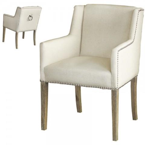 Artelore - Brens Ecru čalouněná židle