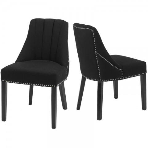 Artelore - Jenkins Black čalouněná židle