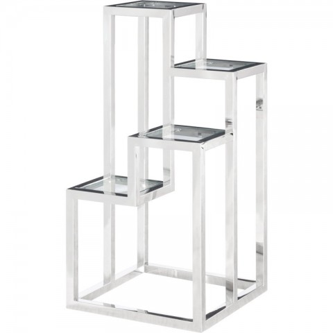 Artelore - Alvar Nickel Left odkládací stolek