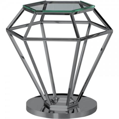 Artelore - Emmanuelle Black Nickel Finish odkládací stolek