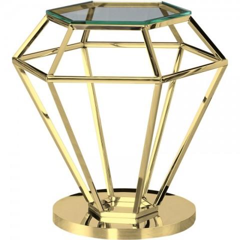Artelore - Emmanuelle Gold Finish odkládací stolek