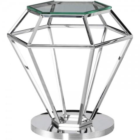 Artelore - Emmanuelle Nickel Finish odkládací stolek