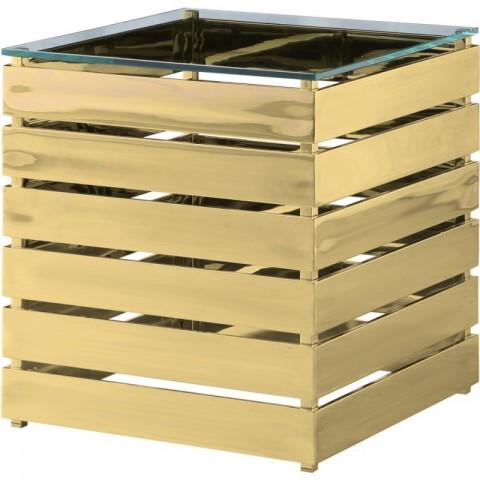 Artelore - Gehry Gold Finish odkládací stolek