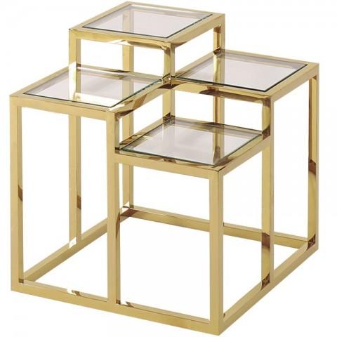 Artelore - Golden Alvar odkládací stolek