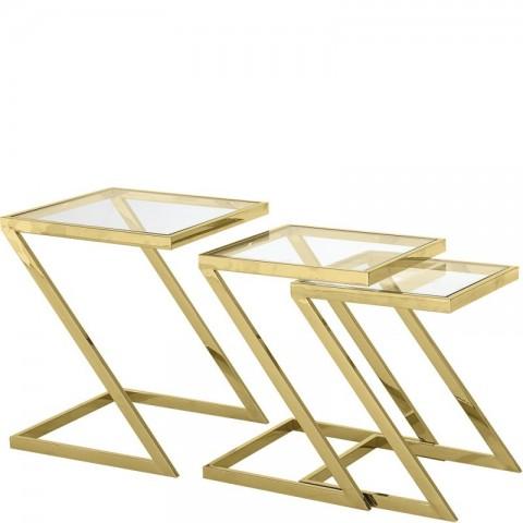 Artelore - Golden Emerson Nest 3 Aux odkládací stolek