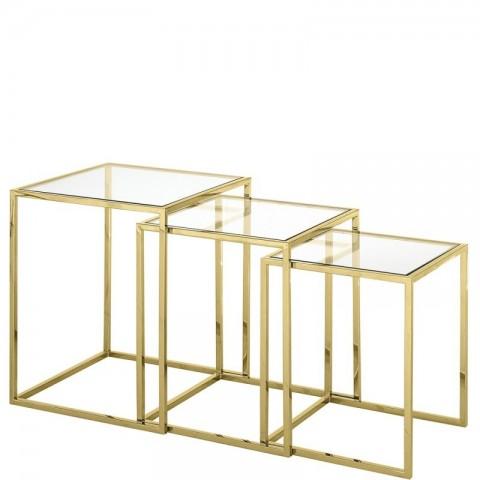 Artelore - Golden Nicola Nest odkládací stolek