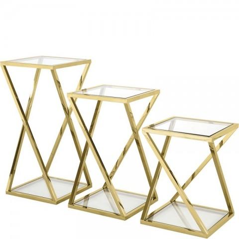 Artelore - Golden Niki Nest odkládací stolek