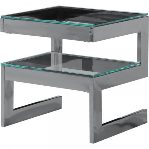 Artelore - Kassia Black Nickel Finish odkládací stolek