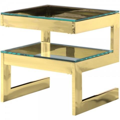 Artelore - Kassia Gold Finish odkládací stolek