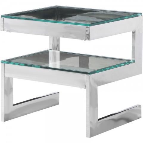 Artelore - Kassia Nickel Finish odkládací stolek